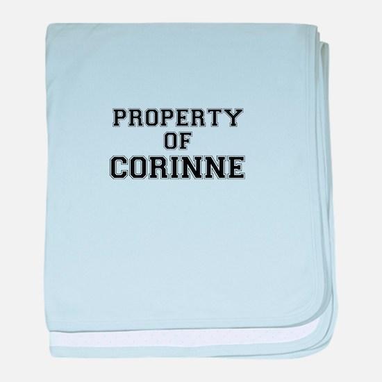 Property of CORINNE baby blanket