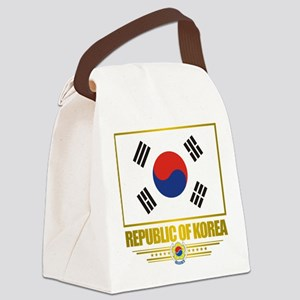 South Korea (Flag 10) Canvas Lunch Bag