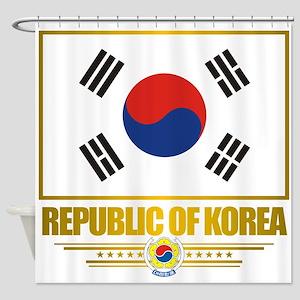 South Korea (Flag 10) Shower Curtain