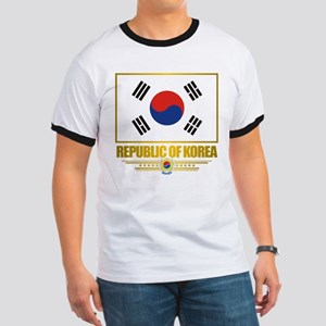 """Republic of Korea Flag"" Ringer T"