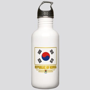 """""""Republic of Korea Flag"""" Stainless Water Bottle 1."""