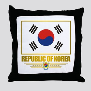 """Republic of Korea Flag"" Throw Pillow"