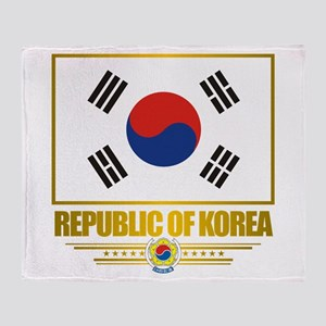"""Republic of Korea Flag"" Throw Blanket"