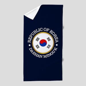 Korea (rd) Beach Towel
