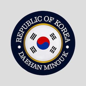 """Korea (rd) 3.5"""" Button"""