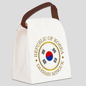 Korea (rd) Canvas Lunch Bag