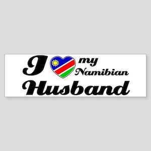 I love my Namibian husband Bumper Sticker