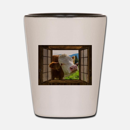 Cow Field Animal Shot Glass