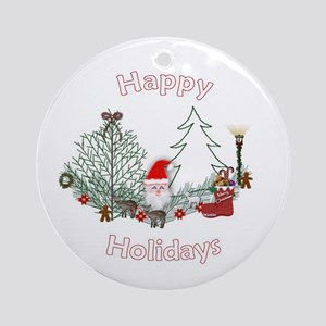 Happy Holidays Ornament (Round)