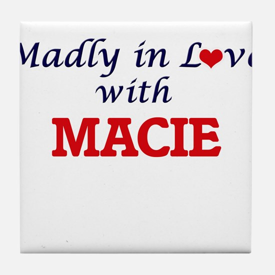 Madly in Love with Macie Tile Coaster