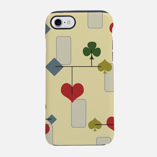 Atomic Era Card Suite Art iPhone 8/7 Tough Case