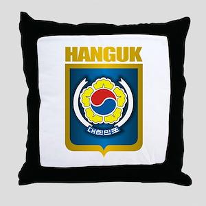 """""""Republic of Korea Emblem"""" Throw Pillow"""
