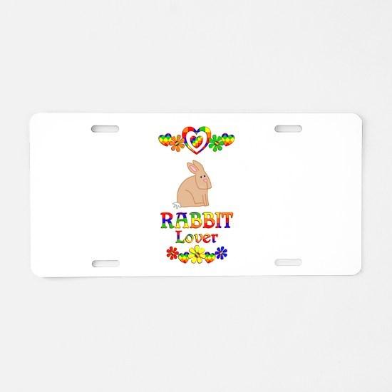 Rabbit Lover Aluminum License Plate