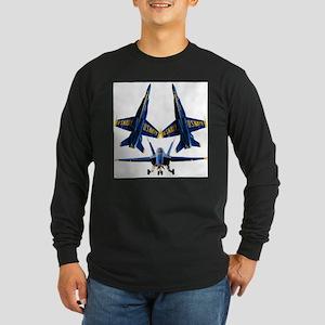Blue Sillouette 3 Long Sleeve T-Shirt