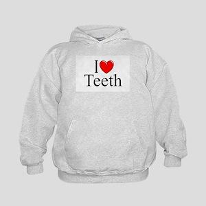 """""""I Love (Heart) Teeth"""" Kids Hoodie"""