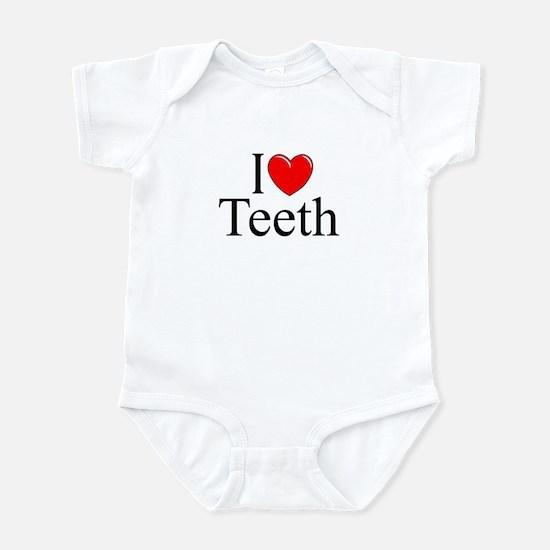 """""""I Love (Heart) Teeth"""" Infant Bodysuit"""