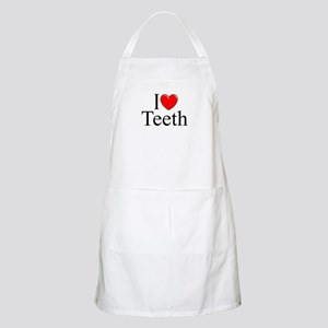 """I Love (Heart) Teeth"" BBQ Apron"