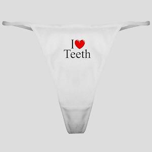 """I Love (Heart) Teeth"" Classic Thong"