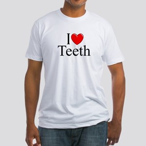 """I Love (Heart) Teeth"" Fitted T-Shirt"