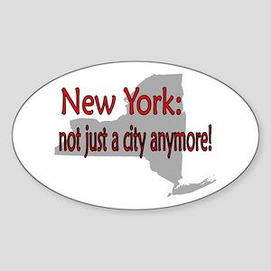 New York State Oval Sticker
