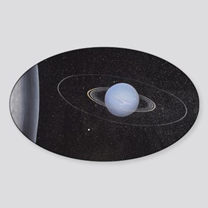 Uranus and it's rings Sticker
