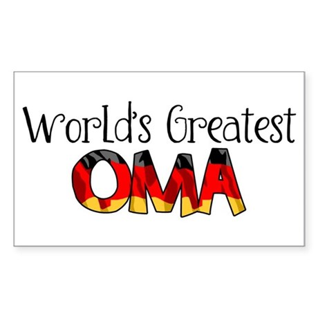 Oma Rectangle Sticker