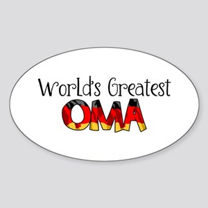 Oma Oval Sticker
