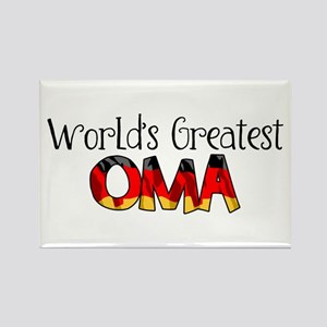 Oma Rectangle Magnet