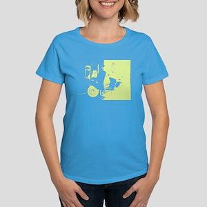 Chartreuse Vespa Women's Dark T-Shirt