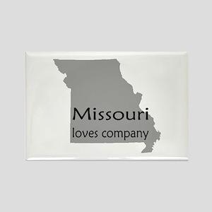 Missouri Loves Company Rectangle Magnet