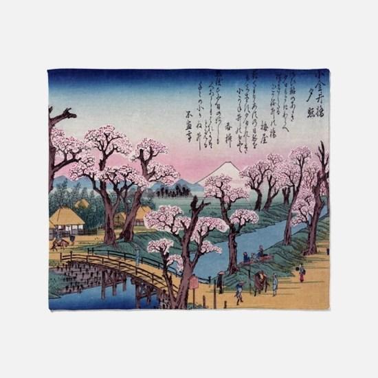 Cute Hiroshige Throw Blanket