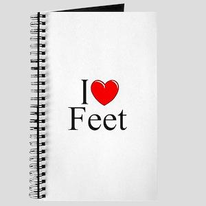 """I Love (Heart) Feet"" Journal"