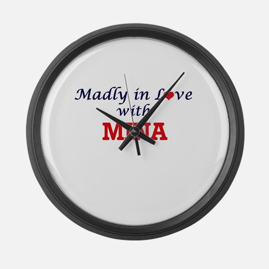 Madly in Love with Mina Large Wall Clock