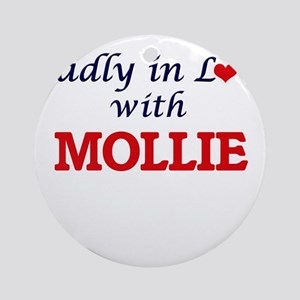 Madly in Love with Mollie Round Ornament