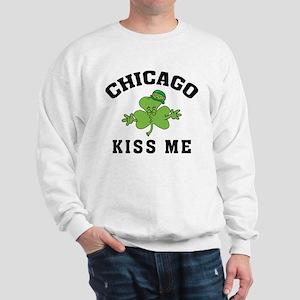 Chicago Irish Kiss Me Sweatshirt