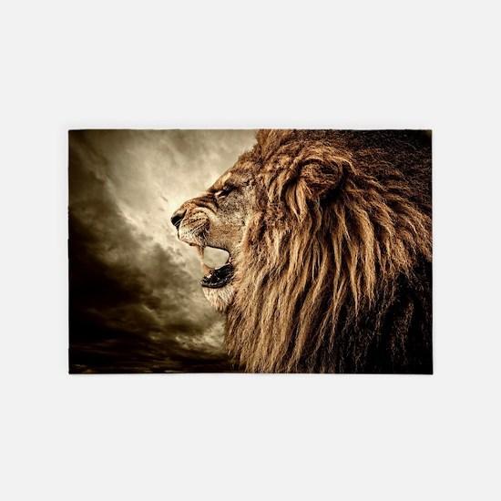 Roaring Lion 4' X 6' Rug