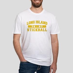 Long Island Stickball Fitted T-Shirt