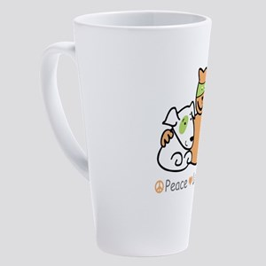 peace love rescue 17 oz Latte Mug