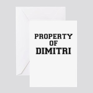 Property of DIMITRI Greeting Cards