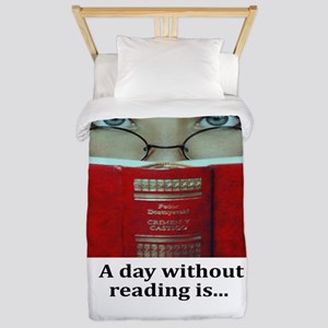 A day without reading Twin Duvet