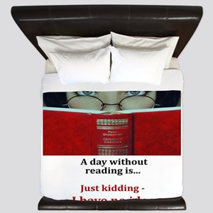 A day without reading King Duvet