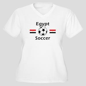 Egypt Soccer Women's Plus Size V-Neck T-Shirt