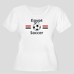 Egypt Soccer Women's Plus Size Scoop Neck T-Shirt