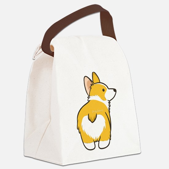 Cartoon Corgi Canvas Lunch Bag