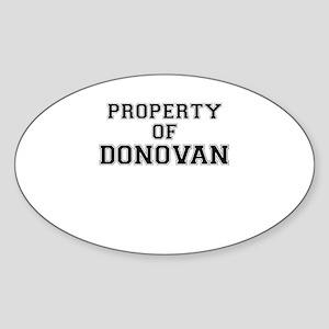 Property of DONOVAN Sticker