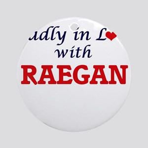 Madly in Love with Raegan Round Ornament