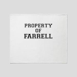 Property of FARRELL Throw Blanket