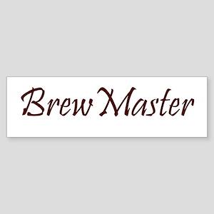 Brew Master Brown Bumper Sticker