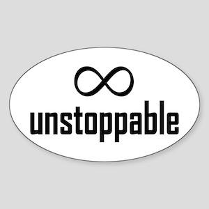 Infinity, Unstoppable Sticker (Oval)