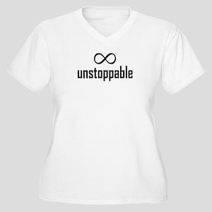 Infinity, Unstoppable Women's Plus Size V-Neck T-S